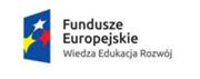 Logo Funduszy Europejskich Wiedza edukacja rozwój