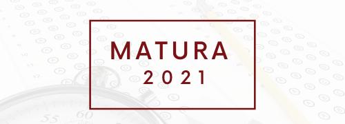 Baner z napisem matura 2021