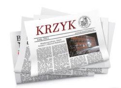 Zdjęcie gazetki szkolnej Krzyk
